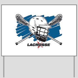 Lacrosse Attitude Yard Sign