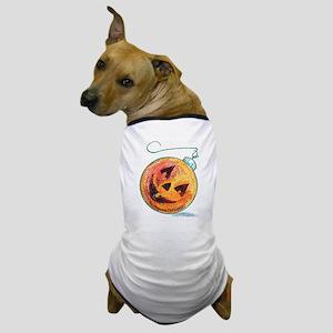 Pumpkin Christmas Ball Dog T-Shirt
