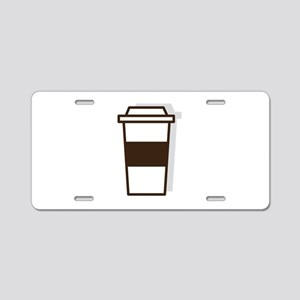 Coffee To Go Aluminum License Plate