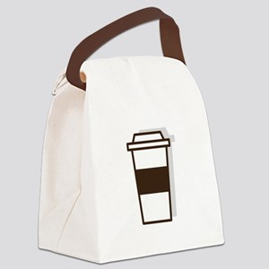 Coffee To Go Canvas Lunch Bag