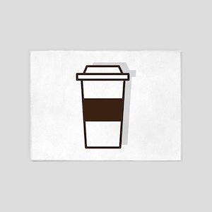 Coffee To Go 5'x7'Area Rug