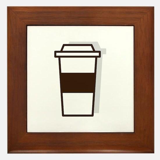 Coffee To Go Framed Tile