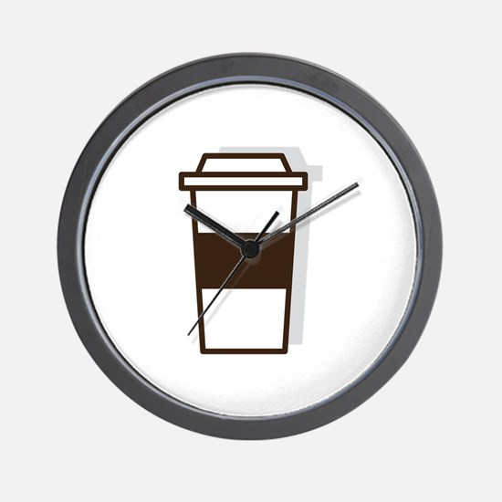 Coffee To Go Wall Clock