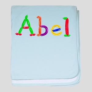 Abel Balloons baby blanket