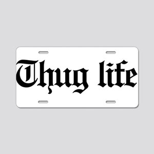thug life, gangster, baby, Aluminum License Plate