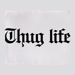 thug life, gangster, baby, g, thug, Throw Blanket