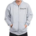 thug life, gangster, baby, g, thug, Zip Hoodie