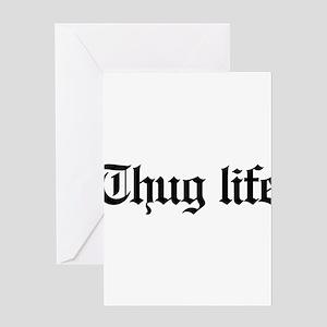 thug life, gangster, baby, g, thug, Greeting Card