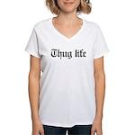 thug life, gangster, baby, Women's V-Neck T-Shirt