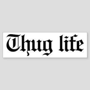 thug life, gangster, baby, g, thu Sticker (Bumper)