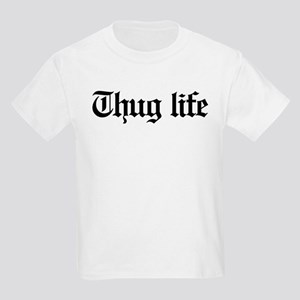 thug life, gangster, baby, g, t Kids Light T-Shirt
