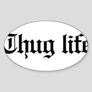 thug life, gangster, baby, g, thug, Sticker (Oval)