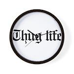 thug life, gangster, baby, g, thug, Wall Clock