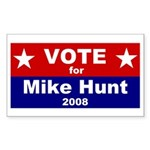 Vote for Mike Hunt Rectangle Sticker