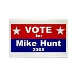 Vote for Mike Hunt Rectangle Magnet