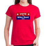 Vote for Mike Hunt Women's Dark T-Shirt