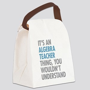 Algebra Teacher Canvas Lunch Bag