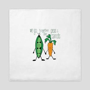 Peas & Carrots Queen Duvet