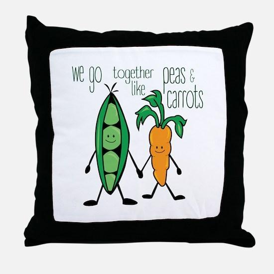 Peas & Carrots Throw Pillow