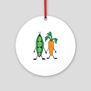 Carrot & Peas Ornament (Round)
