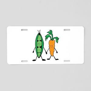 Carrot & Peas Aluminum License Plate