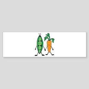Carrot & Peas Bumper Sticker