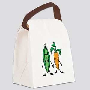 Carrot & Peas Canvas Lunch Bag