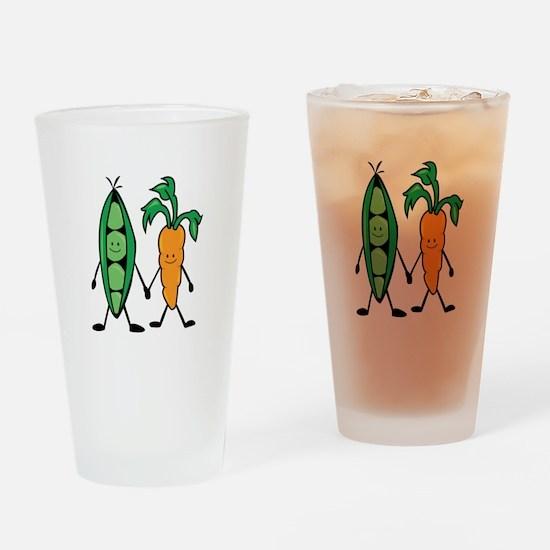 Carrot & Peas Drinking Glass