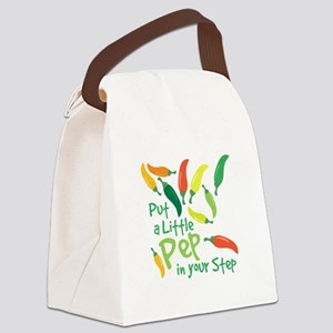 Pep In Your Step Canvas Lunch Bag