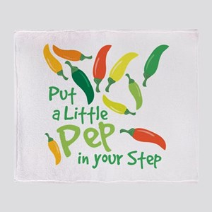 Pep In Your Step Throw Blanket