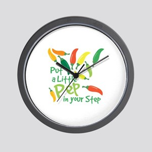 Pep In Your Step Wall Clock
