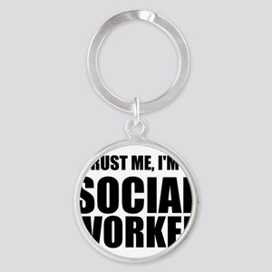 Trust Me, I'm A Social Worker Keychains