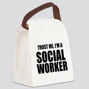 Trust Me, I'm A Social Worker Canvas Lunch Bag