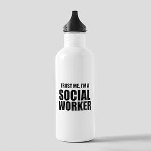 Trust Me, I'm A Social Worker Water Bottle