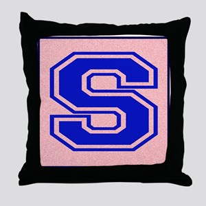 S character Throw Pillow