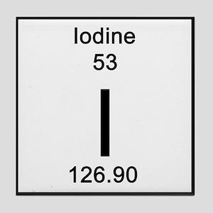 Periodic table iodine coasters cafepress iodine tile coaster urtaz Choice Image