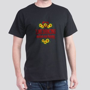 Line Dancing Happiness Dark T-Shirt