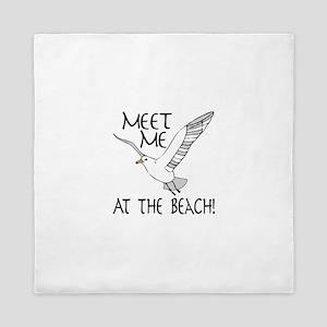Meet Me At The Beach! Queen Duvet