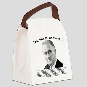 FDR: Powerless Canvas Lunch Bag