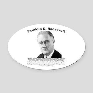 FDR: Powerless Oval Car Magnet