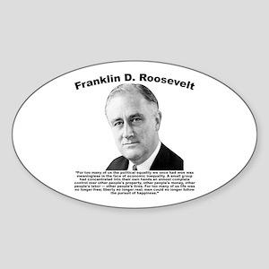 FDR: Powerless Sticker (Oval)