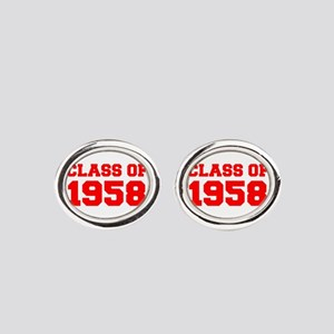 CLASS OF 1958-Fre red 300 Oval Cufflinks