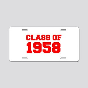 CLASS OF 1958-Fre red 300 Aluminum License Plate