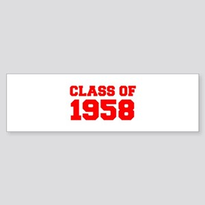 CLASS OF 1958-Fre red 300 Bumper Sticker