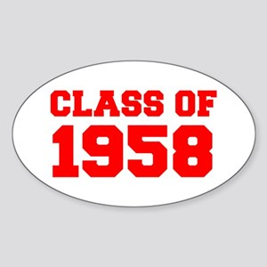 CLASS OF 1958-Fre red 300 Sticker