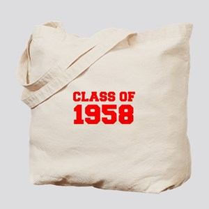 CLASS OF 1958-Fre red 300 Tote Bag