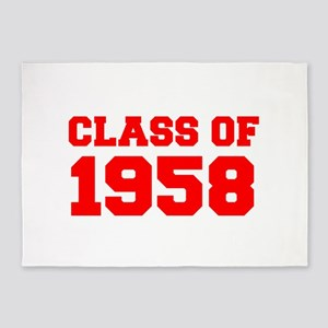 CLASS OF 1958-Fre red 300 5'x7'Area Rug