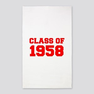 CLASS OF 1958-Fre red 300 Area Rug