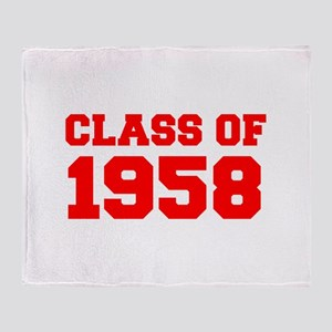CLASS OF 1958-Fre red 300 Throw Blanket