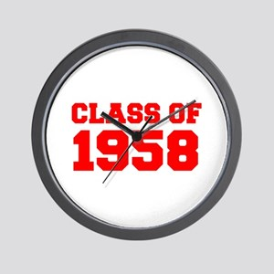 CLASS OF 1958-Fre red 300 Wall Clock